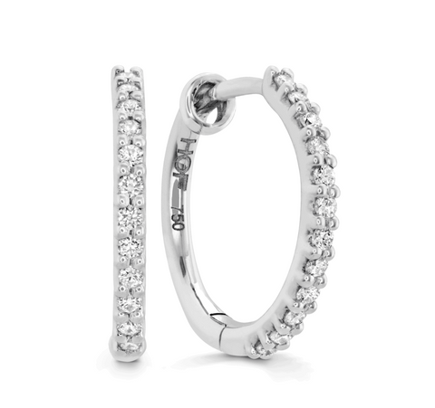 Oval Classic Diamond Hoops