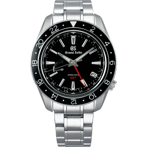 GrandSeiko Spring Drive Black Date GMT Dial