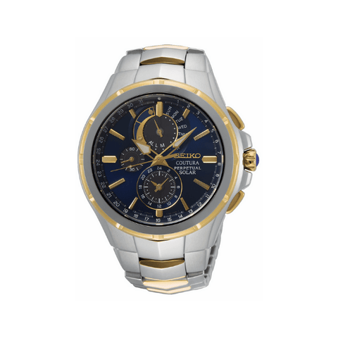 Seiko Coutura Sports Perpetual Blue Dial Two Tone