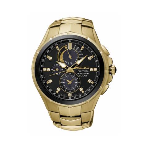 Seiko Coutura Perpetual Mens Watch - Gold
