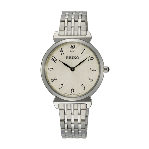 Seiko Analog Business Quartz Silver Ladies