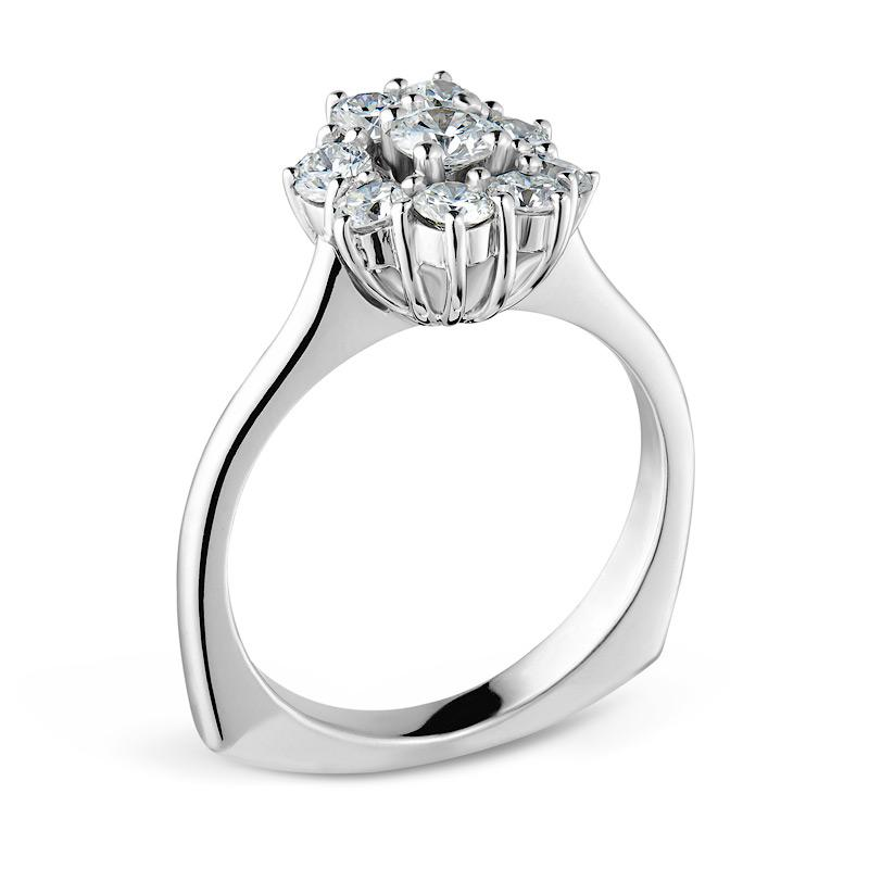 Smales Diamond Engagement Ring in White Gold Jewellery