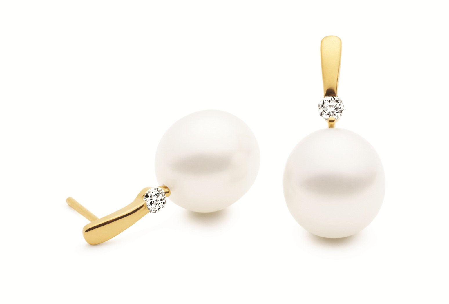 Kailis Simplicity Pearl & Diamond Earrings