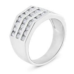 Smales Mens Diamond Ring in White Gold