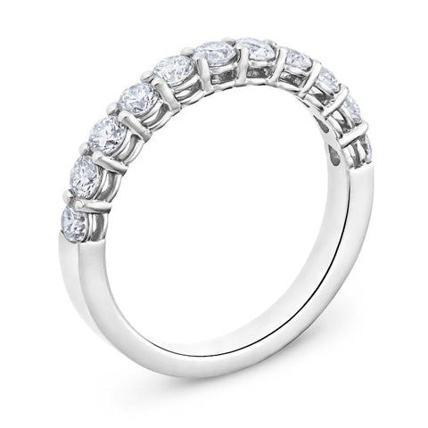 Smales Diamond Wedding Band in White Gold