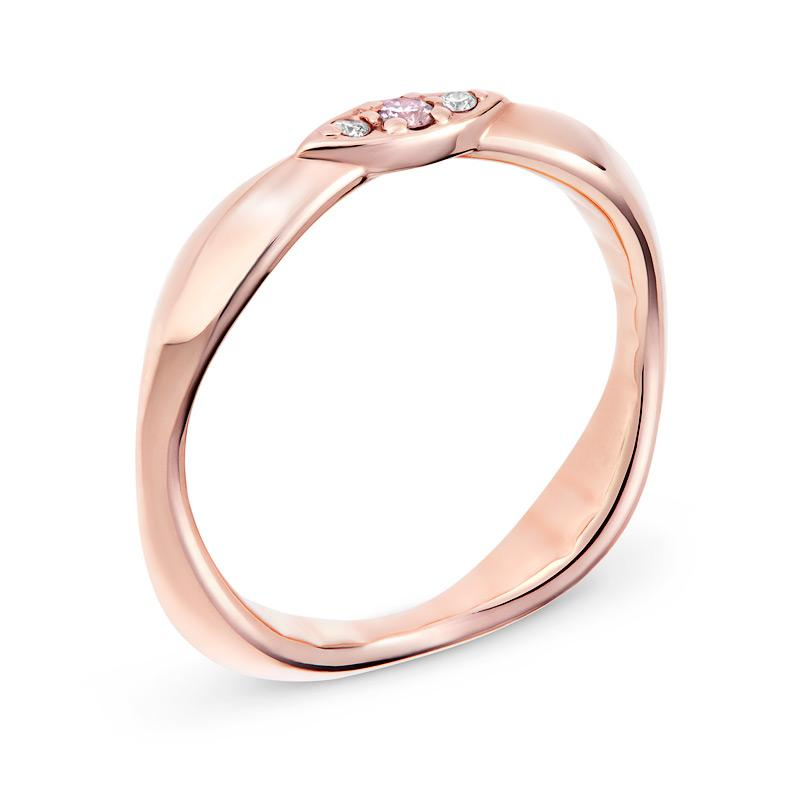 Smales Pink & White Diamond Ring in Rose Gold Perth