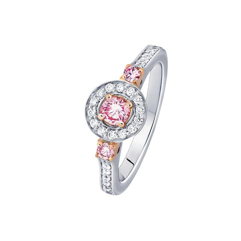 Australian Pink Kimberley Diamond and Gold Ring