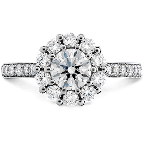Hearts on Fire Beloved Diamond Halo Engagement Ring