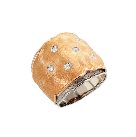 Smales Jewellers Two Toned Gold and Diamond Ring