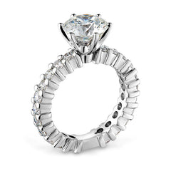 Smales Diamond Engagement Ring With Diamond Band in 18ct White Gold Perth