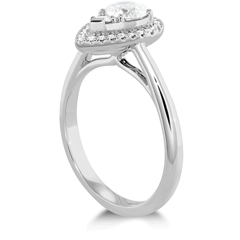 Destiny Teardrop Shape Halo Engagement Ring Perth