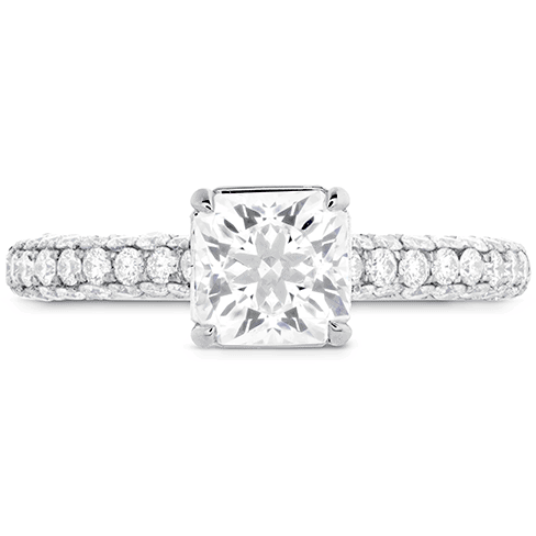Hearts on Fire Princess Cut Diamond Ring