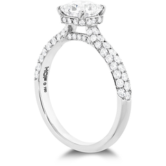 Hearts on Fire Princess Cut Diamond Ring Diamond Side Profile