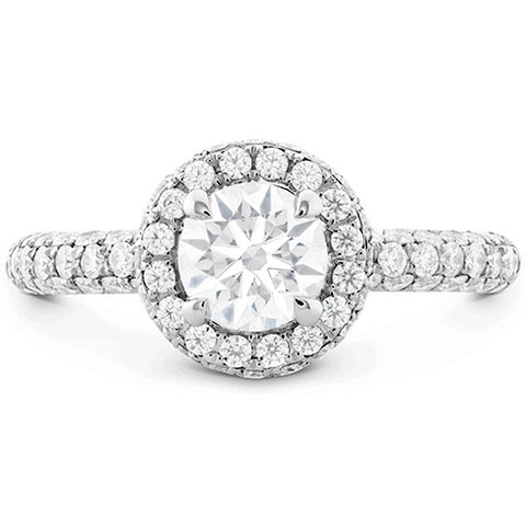 Euphoria Pave HOF Halo Engagement Ring Perth
