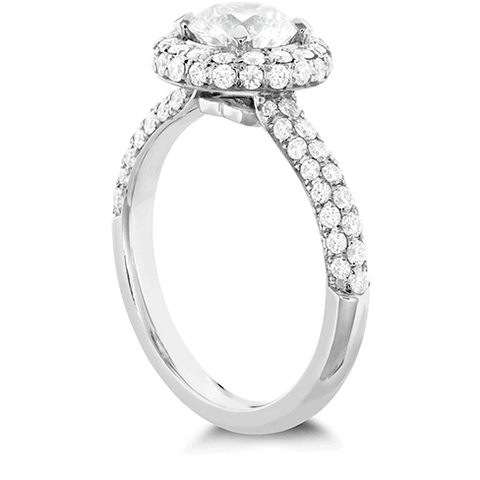 Euphoria Pave HOF Halo Engagement Ring Jewellery