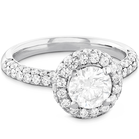 Euphoria Pave HOF Halo Engagement Ring Jewellery Perth
