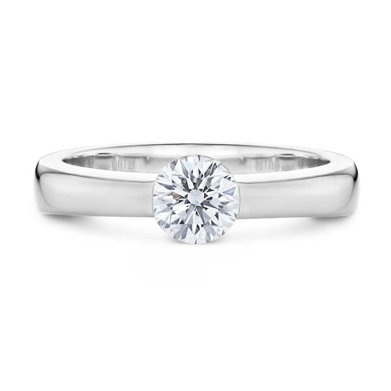 Smales Diamond Solitaire Engagement Ring in White Gold