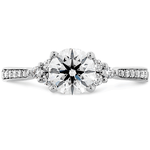 Felicity Queen Anne Engagement Ring-Diamond Band Perth