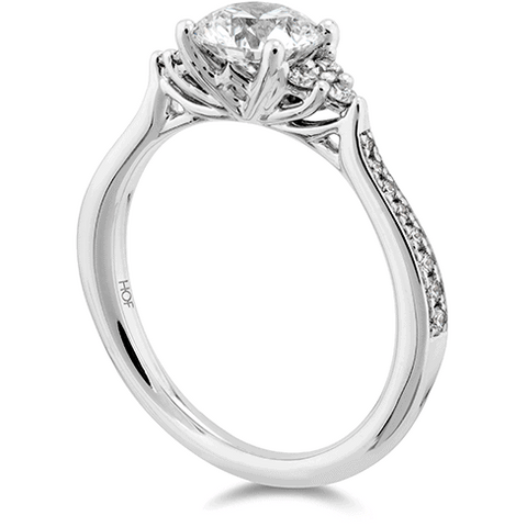 Felicity Queen Anne Engagement Ring-Diamond Band Perth Jewellery