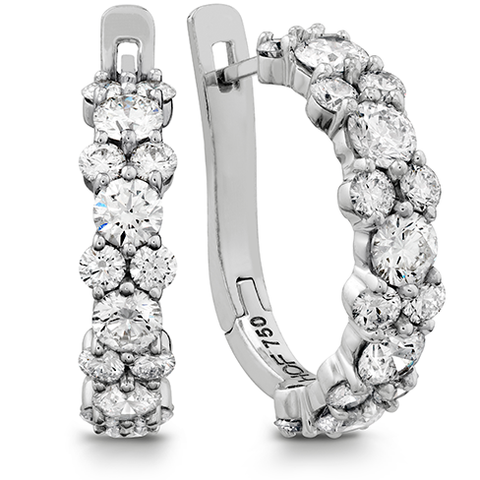 Gracious Diamond Hoop Earrings