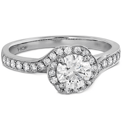 Lorelei Bloom Engagement Ring-Diamond Band Jewellery Perth