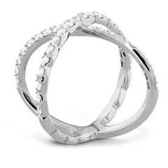 Lorelei Diamond Criss Cross Ring Jewellery