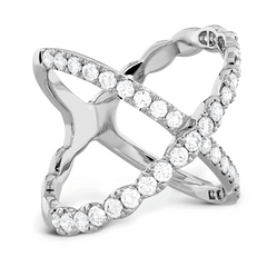 Lorelei Diamond Criss Cross Ring Jewellery Perth