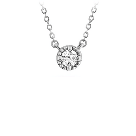 *Liliana Milgrain Single Diamond Pendant