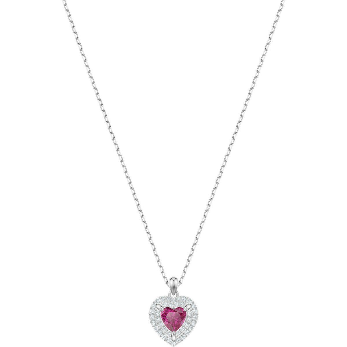 Swarovski One Pendant, Red, Rhodium Plated
