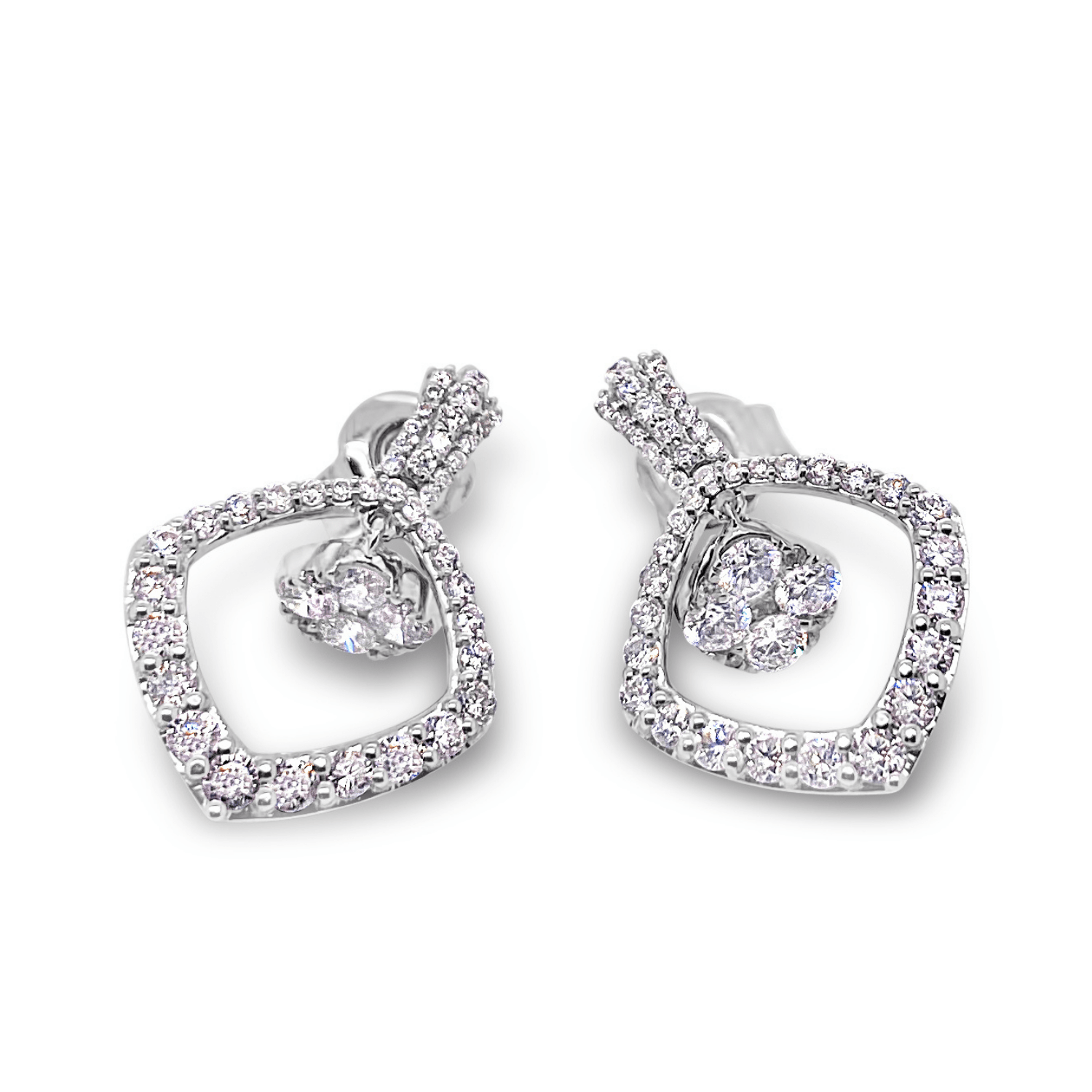 Smales Taj White Gold and Diamond Earrings
