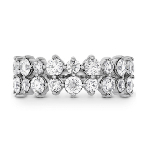 Hearts on Fire Timeless Two Row Ring