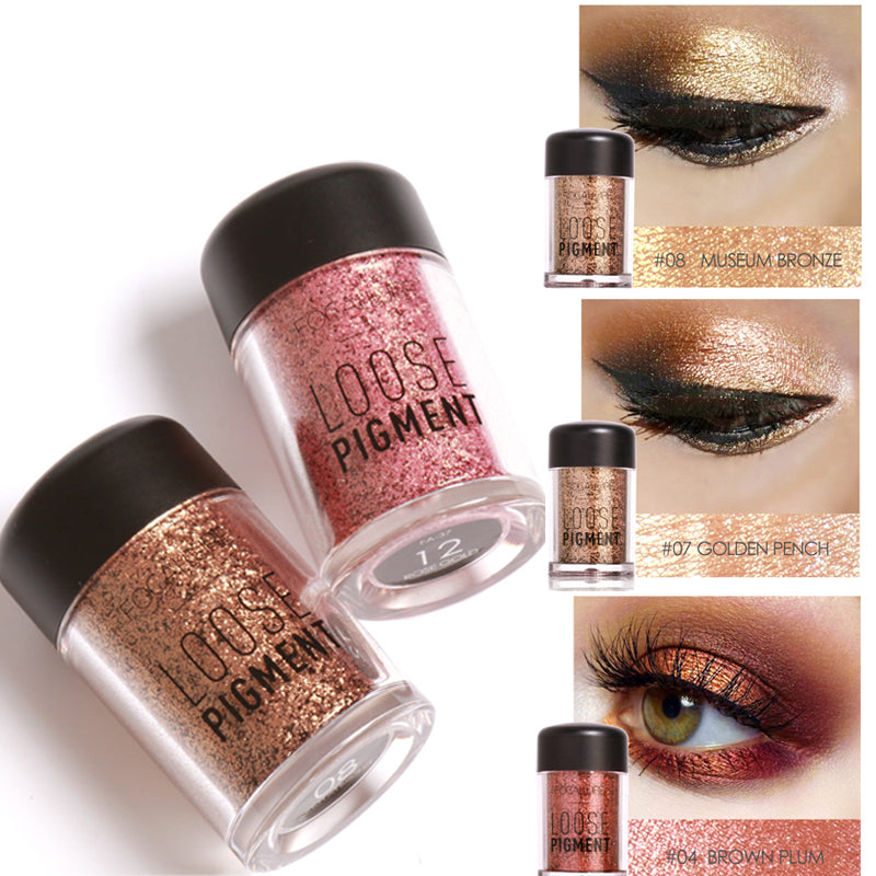 Focallure New Natural Long-Lasting Glitter Crystal Eyeshadow Makeup. 18 Colors.