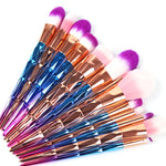 7/10Pcs Diamond Makeup Brush Set.