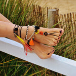 Black anklet with bells