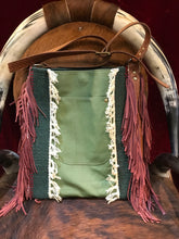 Free Spirit Vintage Saddle Blanket & Leather Fringe Handbag H