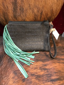 Wristlet with Fringe JJ