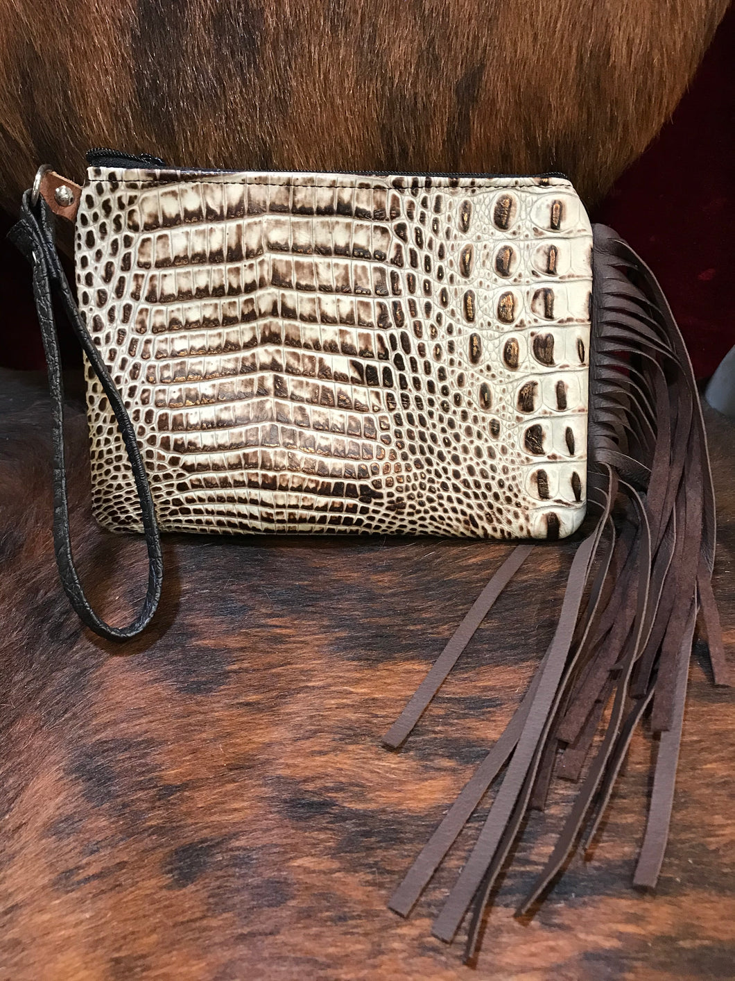 Wristlet with Fringe MM