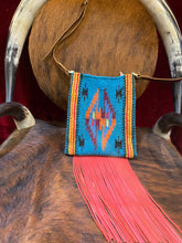 Spirit of the South Saddle Blanket & Leather Fringe Crossbody OO