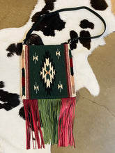 Santa Fe Vintage Saddle Blanket & Leather Fringe Handbag V