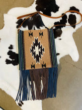 Santa Fe Vintage Saddle Blanket & Leather Fringe Handbag X