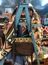 Wilder Upside Downtown (Body) King Turquoise Brown Embossed Leather & Leopard Hair on Hide Crossbody