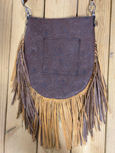 Madison Rose Bag w/ Driftwood Moonlight Embossed Leather w/ Turquoise Acid Wash Hair-on Hide
