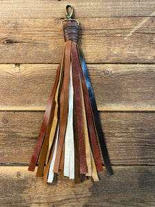 "10"" Tassel Mult Leather: Various Browns & Cream leathers!"