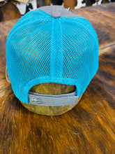 Grey/ Turquoise Mesh & Go Beth Patch