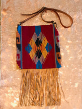 Santa Fe Vintage Saddle Blanket & Leather Fringe Handbag G