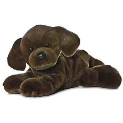 8 Inch Mini Flopsie Lil Lucky Chocolate Lab Dog Plush Stuffed Animal