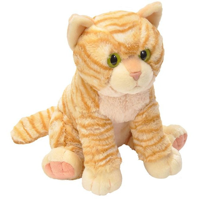 12 Inch Pet Shop Sitting Orange Tabby Cat Plush Stuffed Animal By