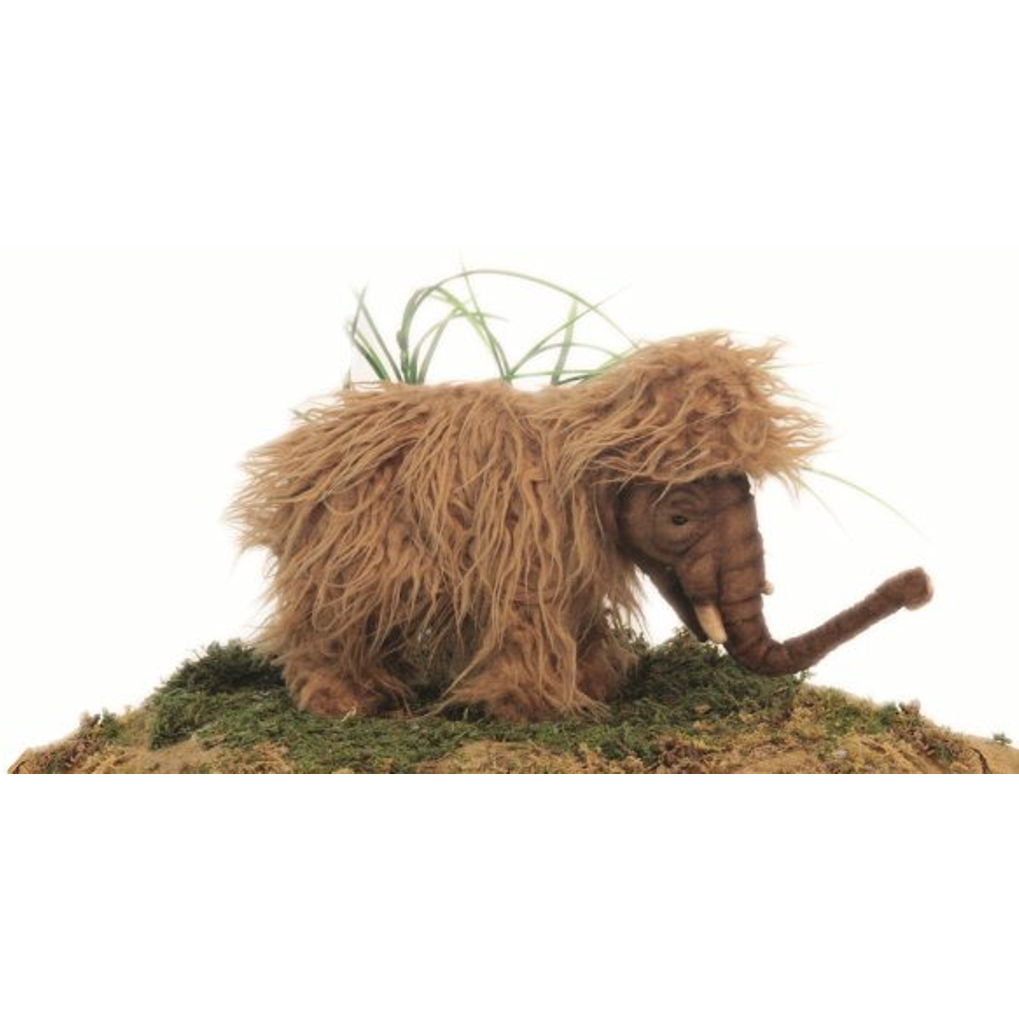 12 Inch Handcrafted Baby Woolly Mammoth Plush Stuffed Animal By
