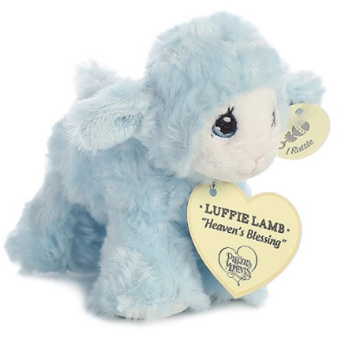 d6690f76596c 6 Inch Precious Moments Blue Luffie Lamb Plush Stuffed Animal Baby Rattle  by Aurora - AllThingsToyStore