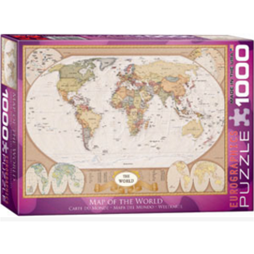 The world map 1000 piece jigsaw puzzle by eurographics the world map 1000 piece jigsaw puzzle by eurographics gumiabroncs Gallery